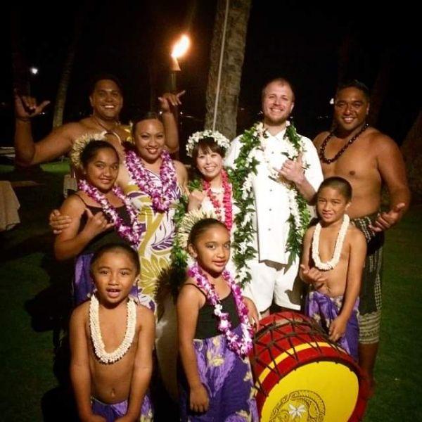 Dressing up at a Maui Luau
