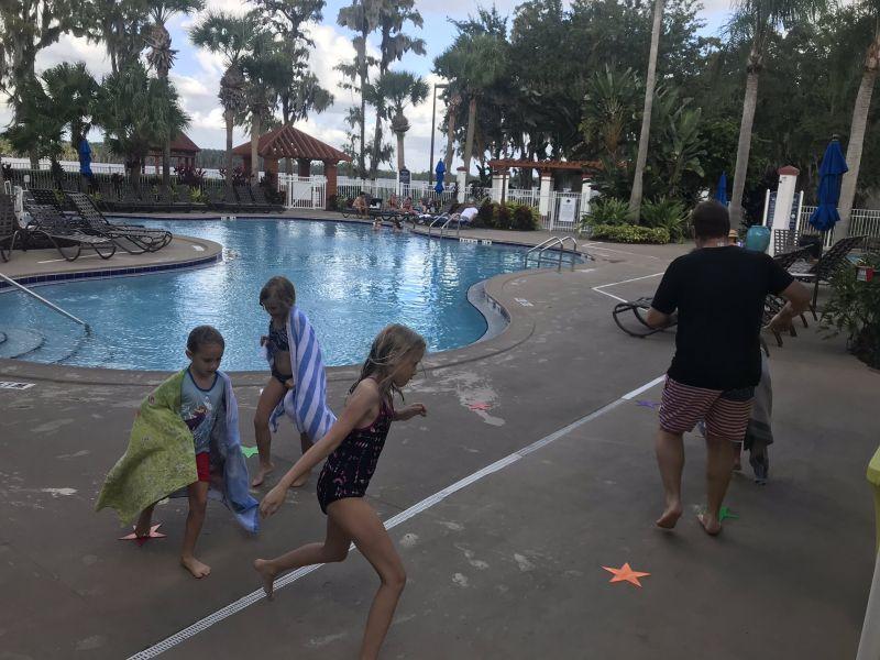 water balloon activity poolside Orlando