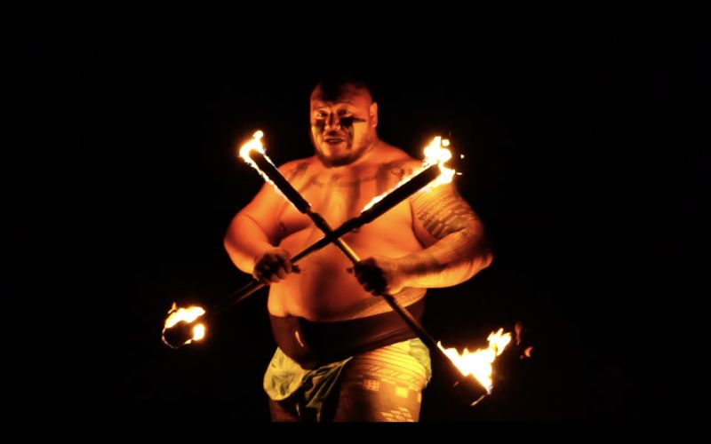 Hawaii Luau Company - Fire Knife Dancers