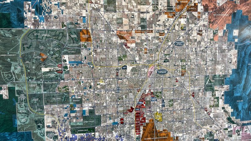 Map of Spring Valley, NV and Las Vegas Nevada